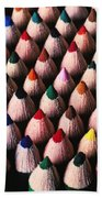 Colored Pencils Bath Towel