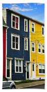 Colorful Houses In St. John's Newfoundland Hand Towel