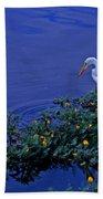 Common Egret Bath Towel