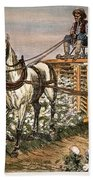 Cotton Harvester, 1886 Bath Towel