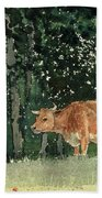 Cow In Pasture Hand Towel