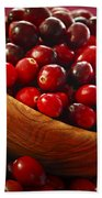 Cranberries In A Bowl Bath Towel