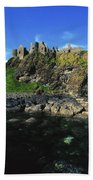 Dunluce Castle, Co Antrim, Ireland Bath Towel