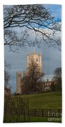 Ely Cathedral In City Of Ely Bath Towel