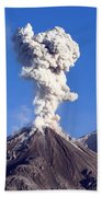 Eruption Of Ash Cloud From Santiaguito Bath Towel