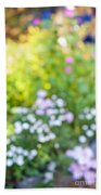 Flower Garden In Sunshine Bath Towel