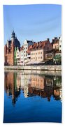 Gdansk Old Town And Motlawa River Hand Towel