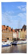 Gdansk Old Town In Poland Bath Towel