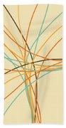 Graphic Line Pattern Bath Towel