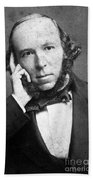 Herbert Spencer, English Polymath Bath Towel