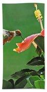 Hibiscus Hummer Bath Towel
