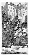 Horse Carriage, 1853 Bath Towel