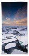 Ice Floes At Sunset Near Mertz Glacier Bath Towel