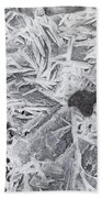 Ice Patterns On Pond, Alberta Canada Bath Towel