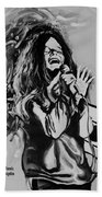 Janis In Black And White Bath Towel