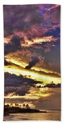Layered Clouds Bath Towel