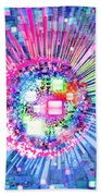 Lighting Effects And Graphic Design Bath Towel