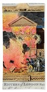 London: Gordon Riots, 1780 Bath Towel