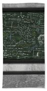 Maths Formula On Chalkboard Bath Towel