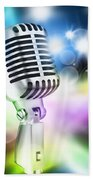 Microphone On Stage Bath Towel