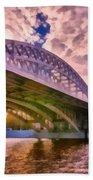 Moscow's Bridges Bath Towel