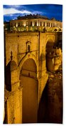 New Bridge In Ronda Hand Towel