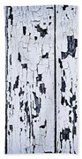 Old Painted Wood Abstract Bath Towel
