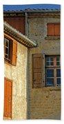 Orange Windows In Provence Bath Towel