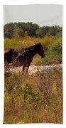 Outer Banks Horses Bath Towel