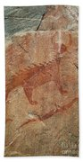 Petroglyph At Agawa Rock Bath Towel