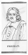 Pierre De Fermat, French Mathematician Bath Towel