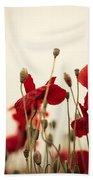 Poppy Flowers 03 Bath Towel by Nailia Schwarz
