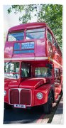 Red London Bus Bath Towel