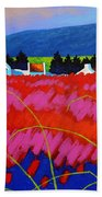 Red Meadow Bath Towel