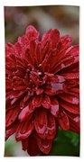 Red Petals Bath Towel