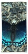 Red Spotted Purple Swallowtail Butterfly Bath Towel