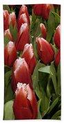 Red Tulip Heaven Bath Towel