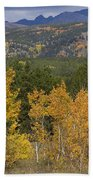 Rocky Mountain Autumn View Bath Towel