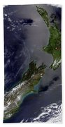 Satellite View Of New Zealand Bath Towel