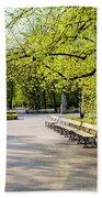 Saxon Garden In Warsaw Bath Towel