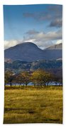 Scottish Landscape View Bath Towel