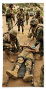 Seabees Conduct A Mass Casualty Drill Bath Towel