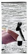 Surfer Umbrella Bath Towel