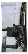 Soldier Mans A .50 Caliber Machine Gun Bath Towel