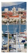 Split Cityscape Bath Towel