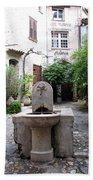 St. Paul De Vence Fountain Bath Towel