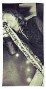 Steven Tyler In Concert Bath Towel