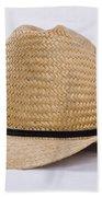 Straw Weave Cowboy Hat Bath Towel