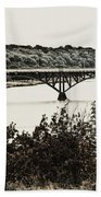 Strawberry Mansion Bridge From Laurel Hill Bath Towel
