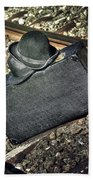 Suitcase And Hats Hand Towel